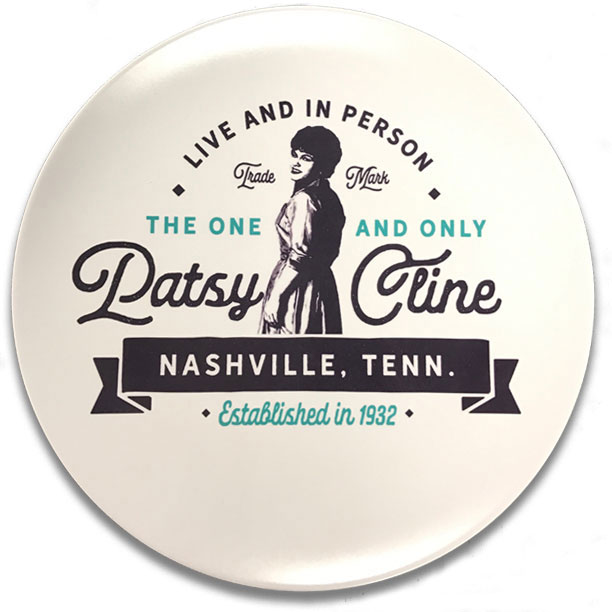 "Patsy Cline Live and In Person 10"" Melamine Plate"