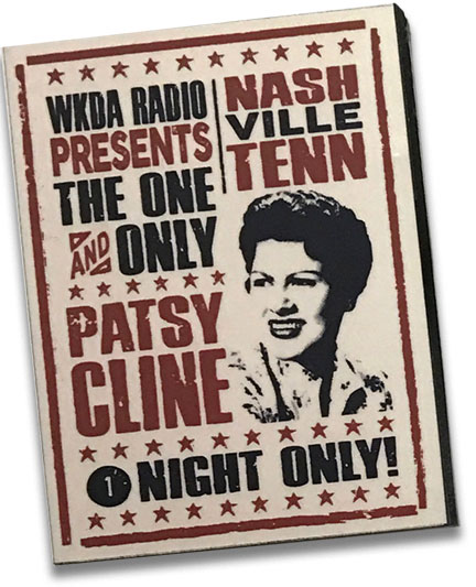 Patsy Cline WKDA Radio Presents Wood Magnet