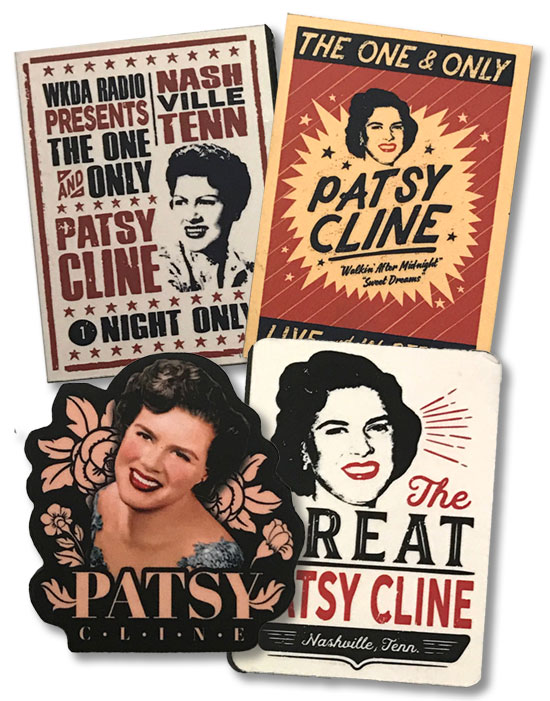 Patsy Cline Wood Magnets