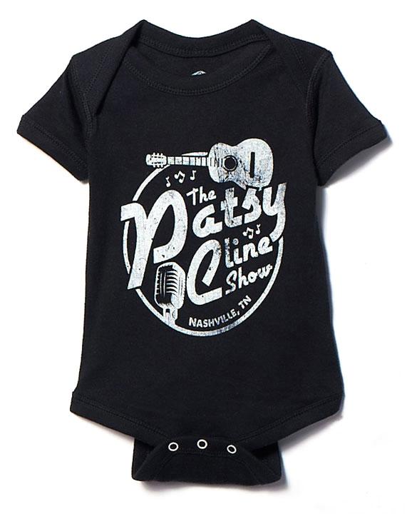 Patsy Cline Show Black Onesie