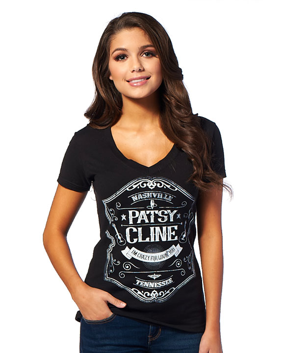 Patsy Cline Crazy for You V-Neck