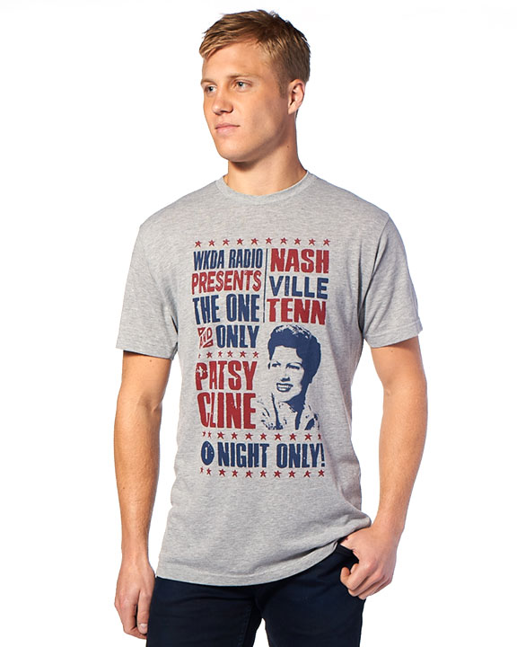 Patsy Cline One Night Only Heather Gray Crew